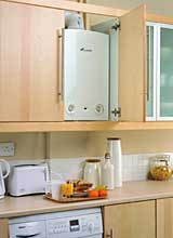 Gas boilers lpg boilers installation servicing repair for Kitchen boiler cupboard